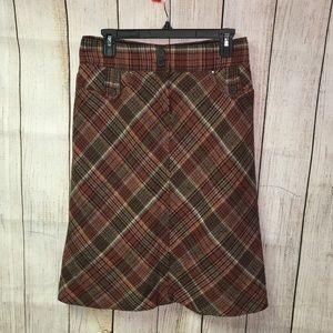 H&M wool blend Plaid A-Line skirt